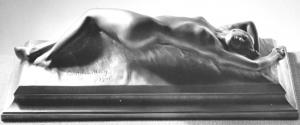 """Gustav Lindbergs """"Vågen"""" gjuten i Ottos uppfunna metallegering fritzi under första världskriget. Foto Fritz Meyer d.y. hos Olle Meyer."""
