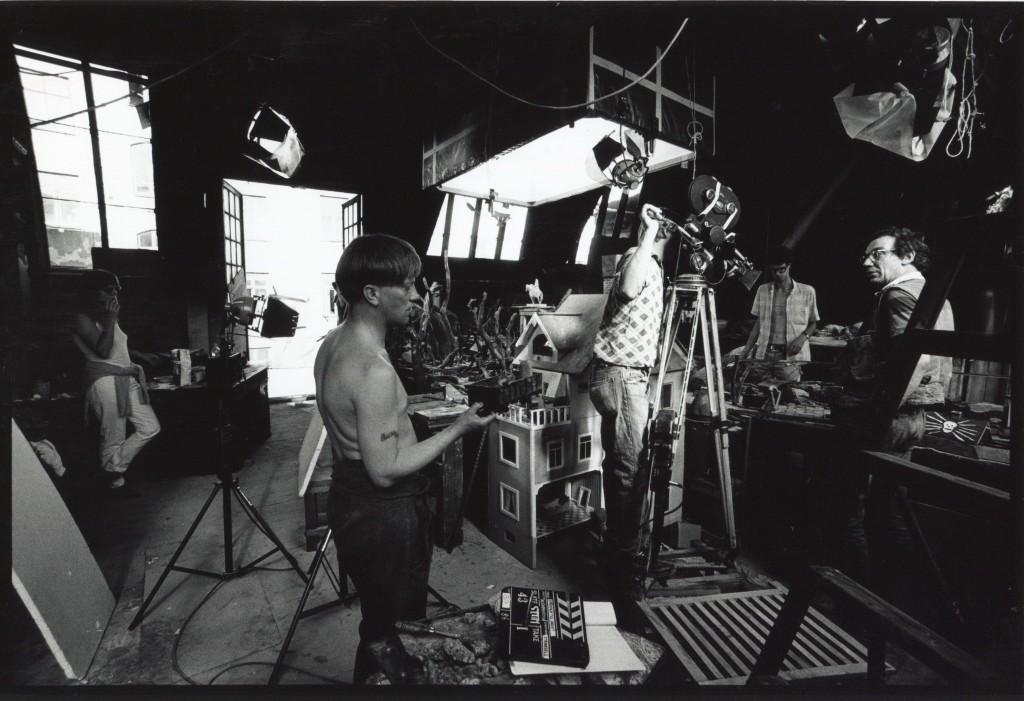 Inspelning i den f.d. ciselörverkstaden. Foto Carl Johan De Geer.
