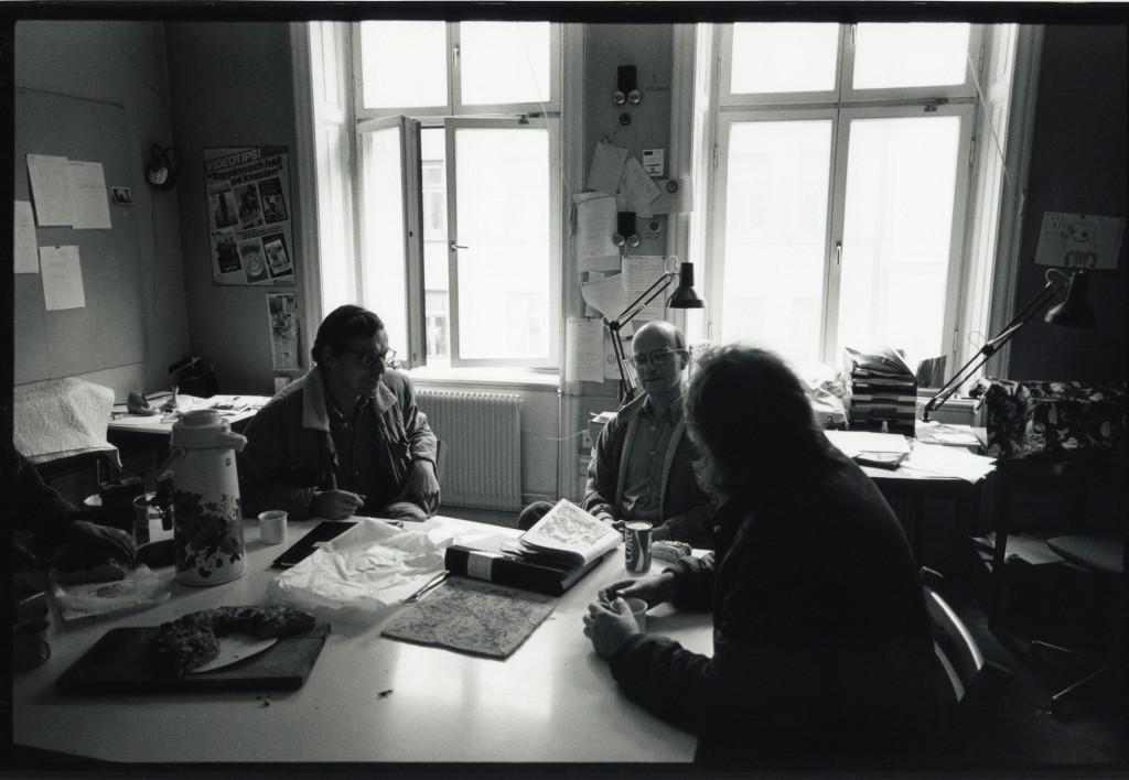 Arbetsrum i gatuhuset där det fanns vatten och el. Foto Carl Johan De Geer.